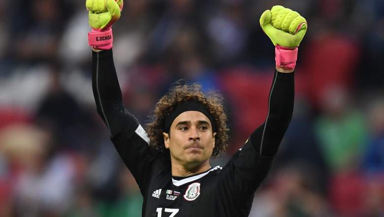Ochoa Mexican National Team after a win