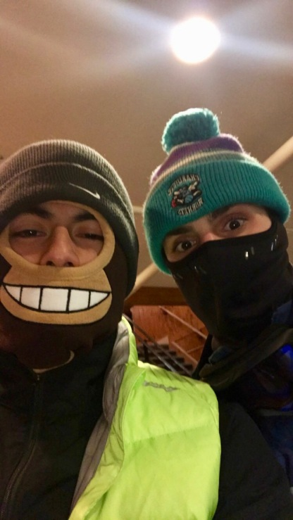 Charlotte Hornets snowboarding in Appalachian Ski